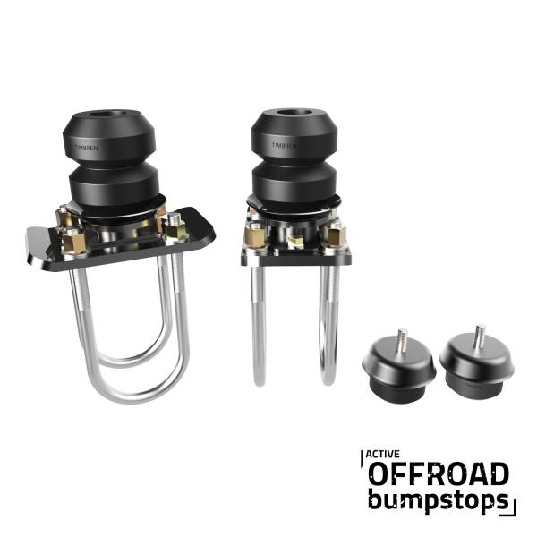 Timbren - Chevy Colorado Front & Rear Active Off-Road Bumpstop Package With U-Bolt Flip Kit